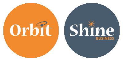 Orbit Agency and Shine Busines Logos